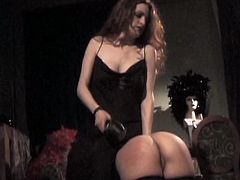 Seductive mistress punishes bed girl. She lifts her skirt up and spanks her appetizing butt cheeks. Go for top rated BDSM sex video produced by Lust Cinema porn site.