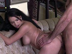 Brunette cutie Patricia Parisch comes to a psychoanalyst to solve her problems. The dude hypnotizes the girl and makes her suck and ride his throbbing cock.