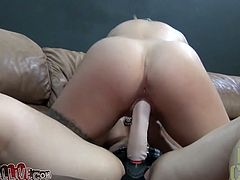Kinky tattooed slut Cameron loves to suck huge dicks on a pov camera. She sucks cock and jerks it off to get a portion of cum delicacy.