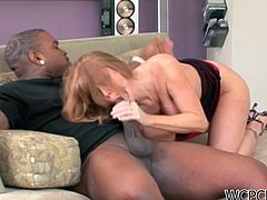 Big tit milf gives amazing blowjob and fucked hard