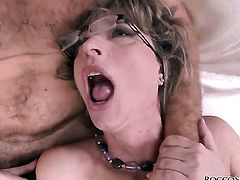 Honey Demon lets Rocco Siffredi bang her sweet mouth before she gets fucked in her backdoor