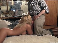 Lusty blonde loves to suck dicks of elder dudes on a camera. Enjoy watching sextractive babe for free. She gives good blowjob.