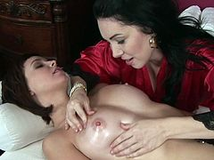 All that soft touching got them horny and in need to stimulate one another's puffy vag