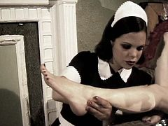 Be pleased with hot erotic sex video produced by Lust Cinema porn site. Horny maid polishes feet of her mistress and licks her pussy greedily.