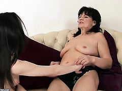 Brunette Helena May has lesbian sex experience of her lifetime with Ann Marie La Sante