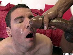 A horny ass gay dude sucks on a hard cock and takes it in his tight butthole, check it out right here, it's hot as fuckin' fuck!