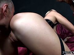 Sex insane black ladyboy spreads her white stocking legs wide and gets her butt hole finger fucked and rammed hard. Don't skip exciting threesome shemale sex video.