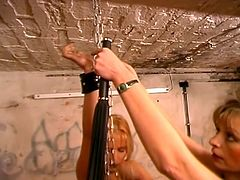 Sweet ass pump hard in this bondage sex tube video that will give your dick hard a joyride of pain and pleasure. This dungeon crawling with eager slaves to get dominated