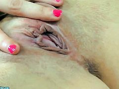 Horny as hell hussy Krystal Love strips and plays with herself for your viewing enjoyment