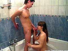 Check out this hardcore scene where this beautiful teen is fucked silly by her boyfriend in the bathroom as you take a look at her great body.