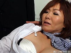 An Asian mom was brought in the police department for a rigid perquisition. Her stockings and white panties are removed right away. Don´t miss the dirty details! You will see the slutty bitch being fingered in the asshole and her nipples pinched hard while sex toys are inserted in her pussy and butt. Click!