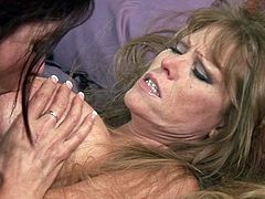 Nasty moms are in for a treat while gently masturbating one another in staggering lesbian adventure