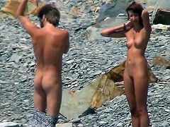 Her nude forms is what keeps horny voyeur hard and eager during this steamy beach spying scene