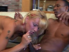 Take a look at this rough interracial scene where the slutty cock thirsty milf Barbie Baja is fucked by two black cocks in a threesome.