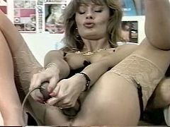 Attractive and voracious bitches suck the dick and insert a sex toy in their twats. Have a look at these whores in The Classic Porn sex clip.