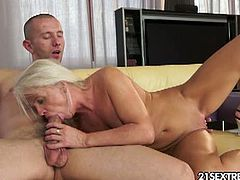 Anett is one smoking hot granny, with a tight pussy and round ass. She likes fucking big rods up her tight asshole. Watch this video of Anett, fucking and sucking this lucky guy, who put his big meat right up her tight asshole. Finally he gets her ass filled with loads of cum. Enjoy!
