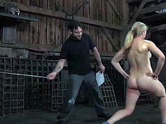 Hard tied: young blond tracey sweet spanked hard