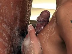 Soapy massage along steamy Nikki Daniels