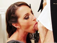 Sexy nympho Kortney Kane gives hot blowjob to Steven St Croix