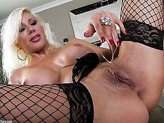 Blonde Puma Swede playing with herself on cam