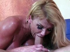 Blonde bombshell Taylor Wane lets a guy eat her hot pussy. Then she stands on all fours and lets the dude pound her throbbing coochie doggy style.