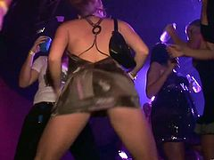 Steamy hot reality video of hot college girls in skirts so short they show plenty as these drunk party girls hit the dance floor.