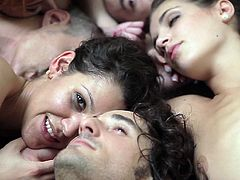 You are welcome here to enjoy watching crazy group sex video produced by Lust cinema porn site. Hot tempered studs drill naughty chicks all possible styles.