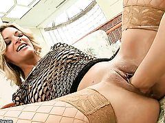 Klarisa Leone getting her dripping wet pussy rubbed by lesbian Nikky Thorne