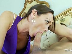 Sexy dark haired milf Kendra Secrets likes young cocks