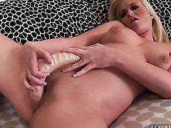 Blonde Barbara Voice spends her sexual energy with guys hard rod in her pussy