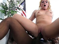 Prince Yahshua buries his rock hard ram rod in sultry Casey Cumzs ass