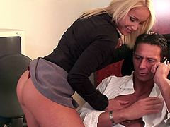 Kathia Nobili is fucked silly by her boss in the office