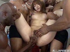 Fabulous Shiori Kamisaki Gets Gangbanged By A Bunch Of Black People