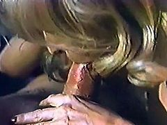 Filthy curvy light haired chick gets her wet twat fucked hard and gives a head. Have a look at this chick in The Classic Porn sex clip.