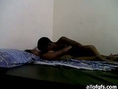 Shy Indian couple have nice sex in classic mish style