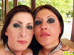 Tamed Teens brings you a hell of a free porn video where you can see how these redhead and brunette sluts get fucked and creamed while assuming very hot poses.