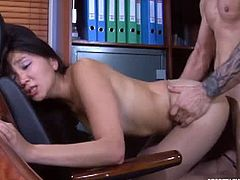 Mima as secretary fucking her boss at his office