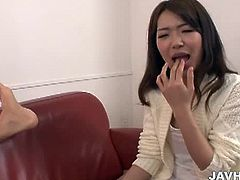 Jav HD brings you a hell of a free porn video where you can see how this alluring Asian brunette is ready to suck a very hard cock while assuming very hot poses.