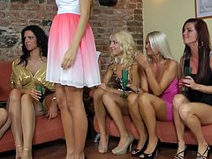 It's the need to stimulate their wet cherries what keeps these horny dolls all together in such adorable group session