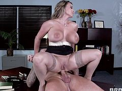 Giselle Leon is fucked in her office by a big cock