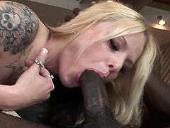 Black Dong Attack brings you a hell of a free porn video where you can see how the alluring blonde slut Faye Runaway gets assfucked by a black stud into a massive anal orgasm.