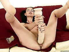 Brunette Betty Stylle cant live a day without getting fucked by dudes sturdy love stick
