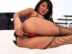 Press play on this hardcore scene where the sexy Asian babe Lucy Lee is fucked by this guy's big cock after giving him a massage.