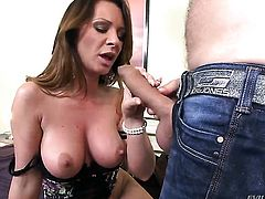 Ian Scott plays with sexy booty of after he bangs her hard before she takes it deep down her throat