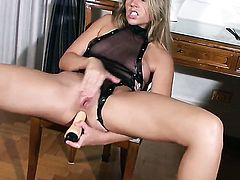 Cherry Jul is horny as hell and fucks her wet spot with her toy on camera