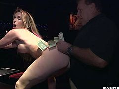 Busty milf stripper Courtney Cummz is ready to fuck for cash