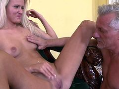 It's been a while since naughty blonde babe had her last astounding hardcore fuck with a steamy senior cock