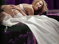 Wicked Pictures brings you a hell of a free porn video where you can see how the hot blonde bride Jessica Drake enjoys a hot fuck while assuming very sexy poses.