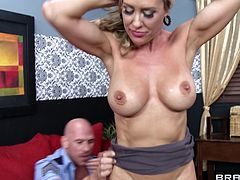 Brandi Love is fucked silly until getting a messy facial