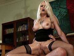 Golden hottie in black lingerie is in for a harsh time along hunk needy to crack her pussy in rough hardcore